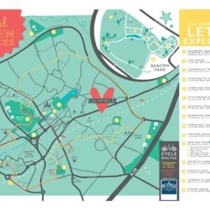 Nurture Community CIC Lichfield Open Spaces Map 2020